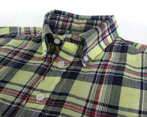 James Mortimer S/S B.D.Shirts Indian Madras