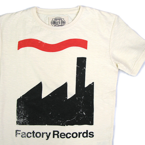 Worn By(ウォーン バイ)プリントTシャツ 「Factory Records」