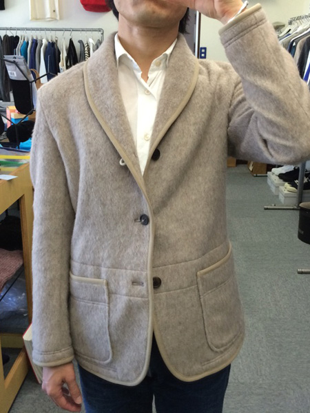 "FUJITO ""Shawl Collar Jacket "" Beige"