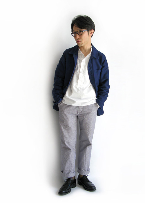 "~ 5minutes Style ~ 「LE LABOUREUR ""WORK PANTS・Hound's Tooth""」"