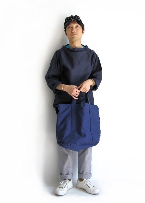 Hervier Productions S.A.×ARTS&CRAFTS 2WAY トートバッグ(ネイビー)
