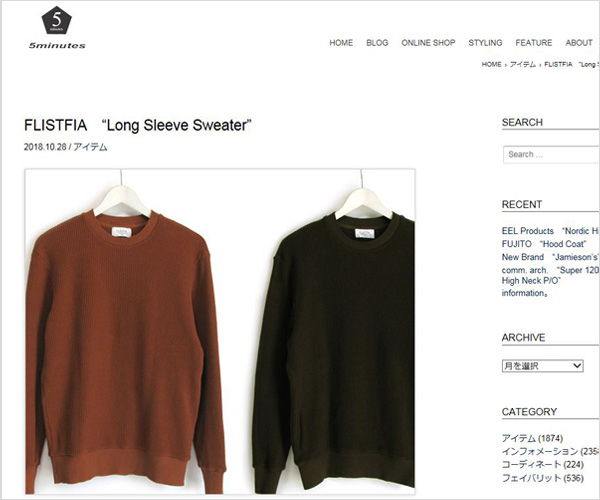 "【First】FLISTFIA ""Long Sleeve Sweater"""